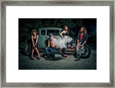 Rodders #3 Framed Print by Jerry Golab