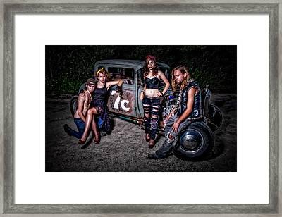 Rodders #4 Framed Print by Jerry Golab