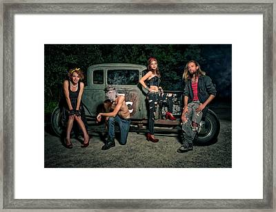 Rodders #5 Framed Print by Jerry Golab