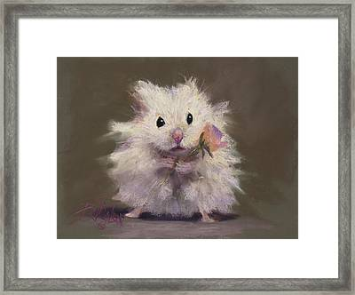 Rodent Romance Framed Print by Billie Colson