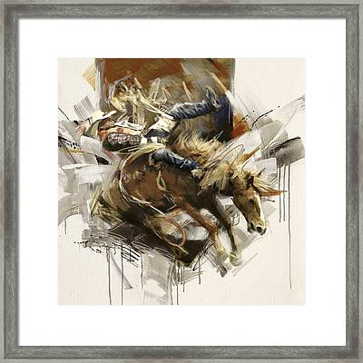 Rodeo 10 Framed Print by Maryam Mughal