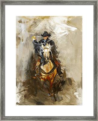 Rodeo 12 Framed Print by Maryam Mughal