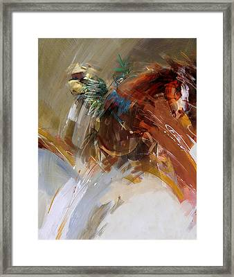 Rodeo 16 Framed Print by Maryam Mughal
