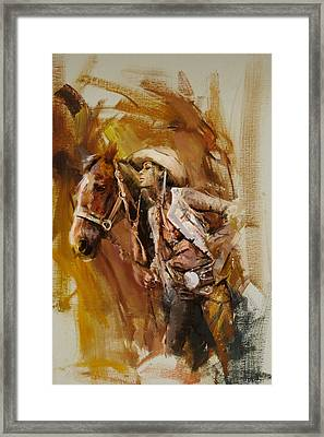 Rodeo 21 Framed Print by Maryam Mughal