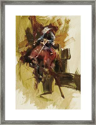 Rodeo 23 Framed Print by Maryam Mughal