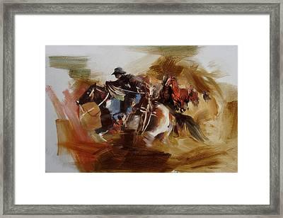 Rodeo 25 Framed Print by Maryam Mughal