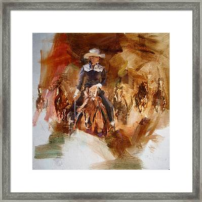 Rodeo 26 Framed Print by Maryam Mughal