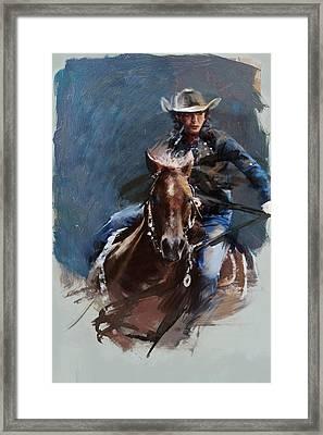 Rodeo 34 Framed Print by Maryam Mughal