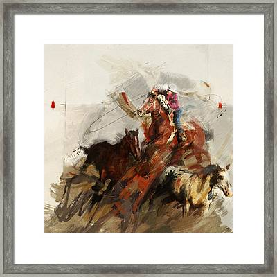 Rodeo 37 Framed Print by Maryam Mughal