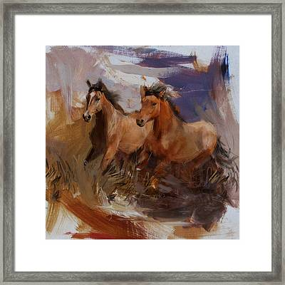 Rodeo 38 Framed Print by Maryam Mughal