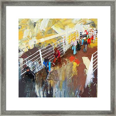 Rodeo 41 Framed Print by Maryam Mughal