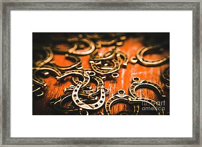 Rodeo Abstract Framed Print