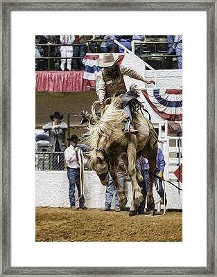 Rodeo Air Time Framed Print by Stephen Stookey