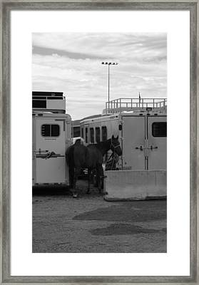 Rodeo Backlot Framed Print by Kirk Griffith