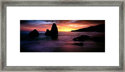 Rodeo Beach At Sunset, Golden Gate Framed Print by Panoramic Images