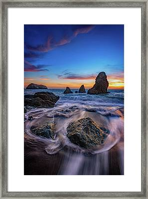Rodeo Beach Sunset Framed Print