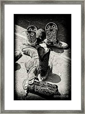 Rodeo Boots And Spurs Framed Print by Gus McCrea