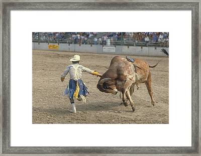 Rodeo Clown Framed Print by Jerry McElroy