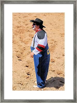 Rodeo Clowns Framed Print by Cheryl Poland
