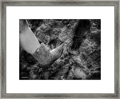 Rodeo Cow Girl Framed Print