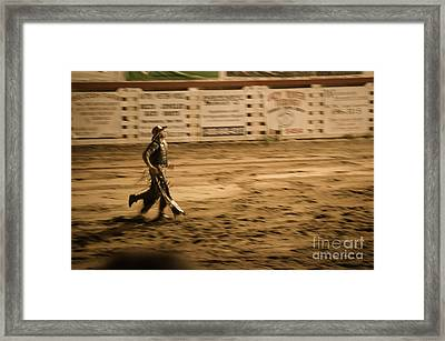 Rodeo Cowboy Framed Print by Jason Freedman