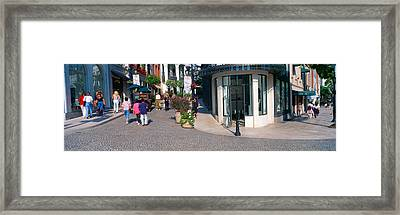 Rodeo Drive, Beverly Hills, California Framed Print by Panoramic Images