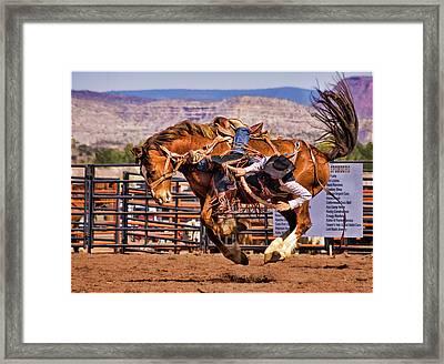 Rodeo Saddle Bronc Riding  Framed Print