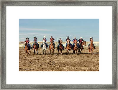 Rodeo Team Riders Framed Print