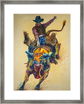 Rodeo Wild Framed Print by Teshia Art