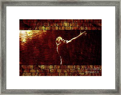 Rodger Waters The Wall Framed Print by Robert Ball