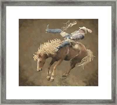 Rodeo Rider Framed Print