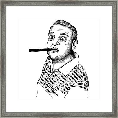 Rodney Dangerfield Framed Print by Karl Addison