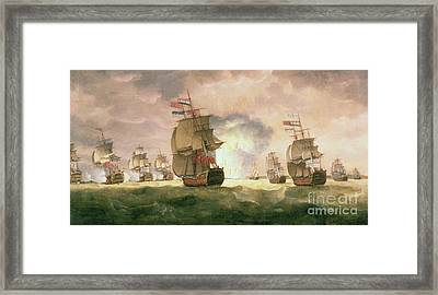 Rodney's Victory Off Cape St. Vincent  Framed Print by Thomas Luny
