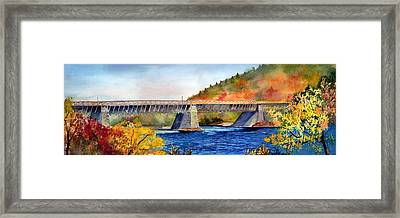 Roebling Aqueduct Bridge Framed Print by Paul Temple