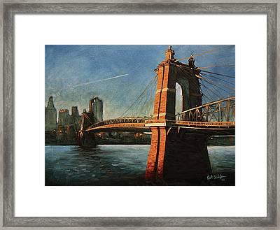 Roebling Bridge No.1 Framed Print