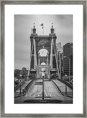 Roebling Bridge Framed Print