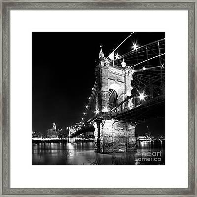 Roebling Bridge Framed Print by Twenty Two North Photography