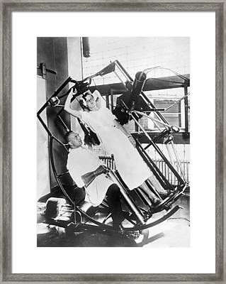 Roentgen X-ray Machine Framed Print by Underwood Archives