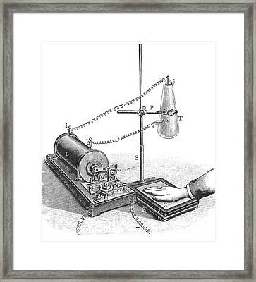 Roentgens X-ray Machine, 19th Century Framed Print