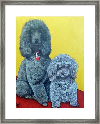 Roger And Bella Framed Print by Tom Roderick