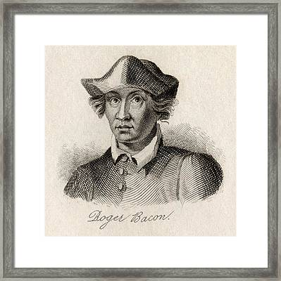 Roger Bacon, C.1214-1294. English Framed Print