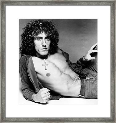 Roger Daltrey, Circa Early-mid 1970s Framed Print