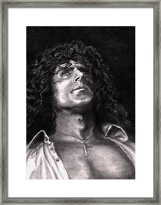 Roger Daltry Framed Print by Kathleen Kelly Thompson