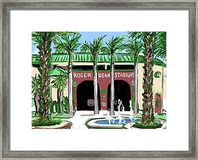 Roger Dean Stadium Framed Print