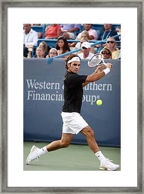 Roger Federer Framed Print by Keith Allen