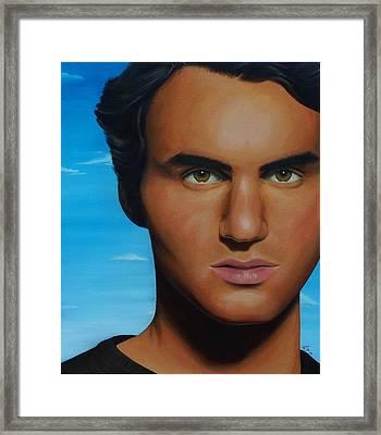 Roger Federer Framed Print by Kim Nelson