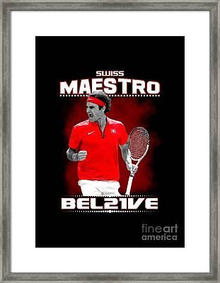 Roger Federer Maestro Framed Print