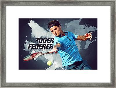 Roger Federer Framed Print by Semih Yurdabak