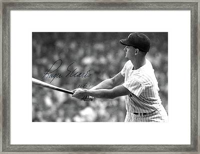 Roger Maris Hits Number 61, Autographed, Signed Framed Print by Thomas Pollart