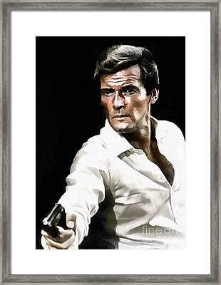 Roger Moore Framed Print by Sergey Lukashin
